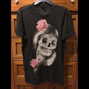 Sugar skull style t-shirt